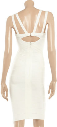Herve Leger Multi-strap bandage dress