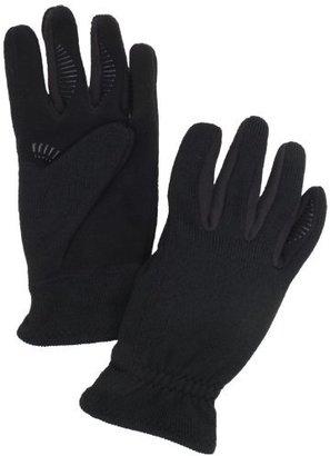 URBAN RESEARCH Men's Rib Knit Glove With Fleece Palm