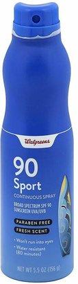 Walgreens Sport Continuous Spray Sunscreen, SPF 90