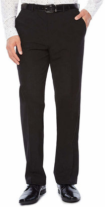 Jf J.Ferrar Men's JF Stretch Gabardine Flat-Front Straight-Leg Slim Fit Suit Pants