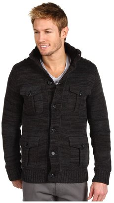 Calvin Klein Jeans Marled Sweater Jacket (Charcoal Heather) - Apparel