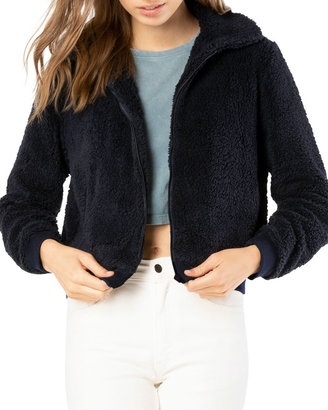 Beyond Yoga All Time Faux-Sherpa Bomber Jacket