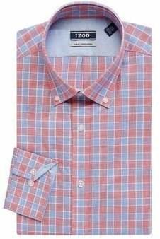 Izod Printed Slim-Fit Dress Shirt