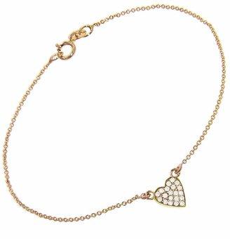 Jennifer Meyer Diamond Heart Bracelet - Yellow Gold