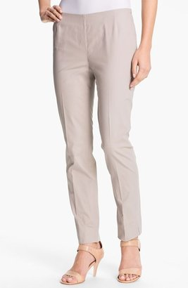 Lafayette 148 New York Casual Cotton Side Zip Ankle Pants (Regular & Petite)