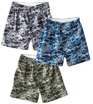 Fruit of the Loom Boys 3-pack Camo Woven Boxers - Multicolor