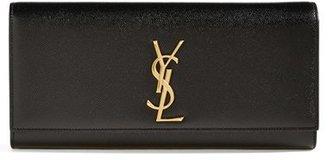Saint Laurent 'Monogram' Leather Clutch - Black $1,245 thestylecure.com