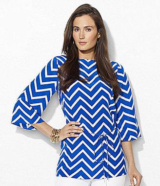 Lauren Ralph Lauren Chevron Silk Tunic