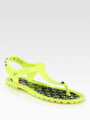 Marc by Marc Jacobs Studded Jelly Thong Sandals