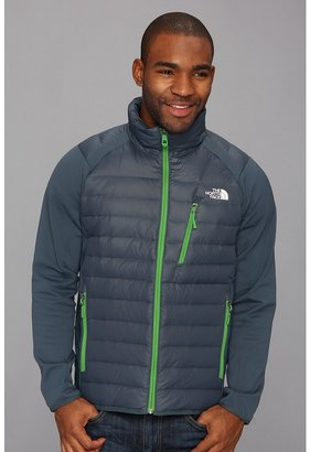 The North Face Hyline Hybrid Down Jacket (Conquer Blue/Conquer Blue/Flashlight Green) - Apparel