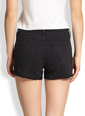 FRAME Le Distressed Cut-Off Shorts
