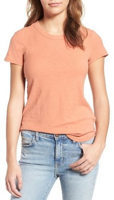 Women's James Perse Sheer Slub Crewneck Tee $75 thestylecure.com
