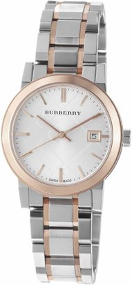 Burberry Women's BU9105 Large Check Stainless Steel Bracelet Dial Watch