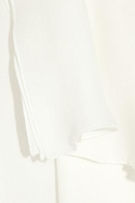 Antonio Berardi Ruffle-front silk-chiffon blouse
