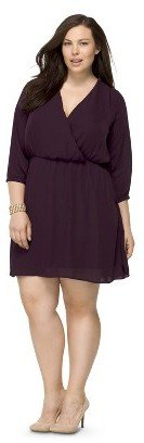 Women's Plus Size 3/4 Sleeve Dress-Pure Energy