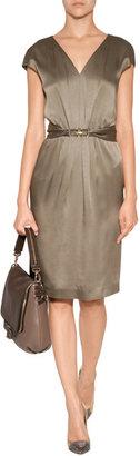 Anya Hindmarch Leather Maxi Zip Satchel in Medium Grey/Deep Grey