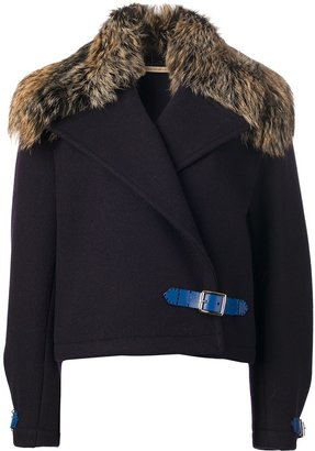 Christopher Kane fur panel cropped jacket