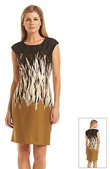 Vince Camuto Darted Printed Sheath Dress
