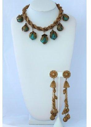 Miriam Haskell pristine (PR) Vintage Turquoise Parure