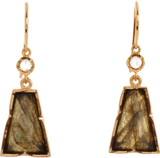Irene Neuwirth Diamond & Labradorite Trapezoid Earrings