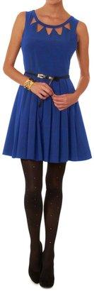 Louche London Echo Cut Out Dress Blue