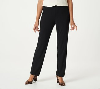 Susan Graver Essentials Liquid Knit Straight Leg Pants - Regular