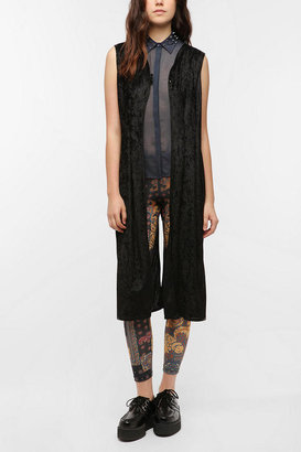 Urban Outfitters Urban Renewal Crushed Velvet Duster Vest