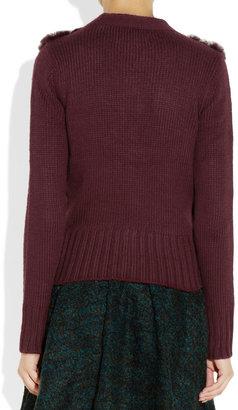 Elizabeth and James Rabbit-paneled knitted cardigan