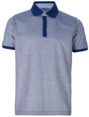 Karl Lagerfeld Lagerfeld contrast trim polo shirt