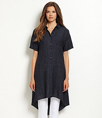 Eileen Fisher Woman Eileen Fisher Petites Classic-Collar Chambray Shirtdress