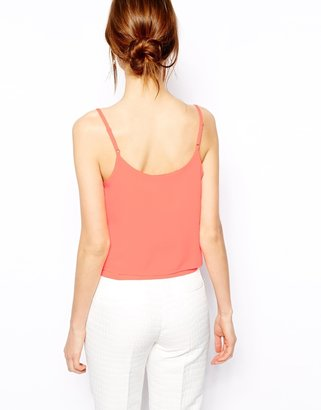 Asos Cropped Double layer Cami