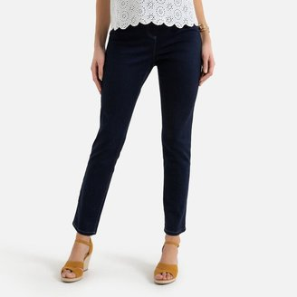 """Anne Weyburn Pull-On Skinny Jeans with Elasticated Waist, Length 30.5"""""""