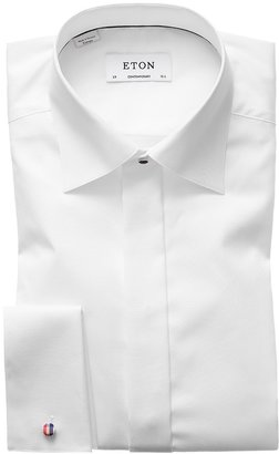 Eton White Twill Evening Shirt - Contemporary Fit