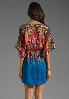 Twelfth St. By Cynthia Vincent By Cynthia Vincent Reversible Deep V Mini in Blue Ombre/Leopard