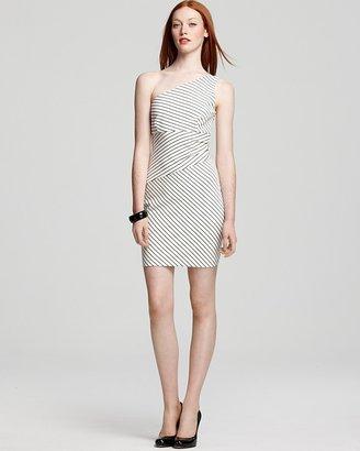 Cynthia Steffe One Shoulder Dress - Demi Ponte Striped