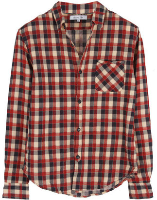 Riviera Club Stag Duo-layered Shirt in Red Plaid -