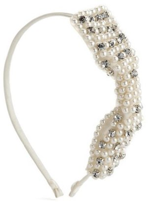 Charlotte Russe Perfect Pearl Bow Headband