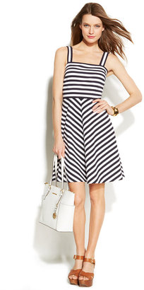 MICHAEL Michael Kors Sleeveless Striped Dress