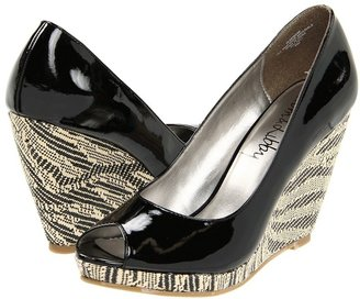 Sam & Libby Monami 3 (Black Patent/Grace Raffia) - Footwear