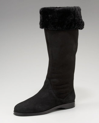 Jimmy Choo Suede Shearling-Lined Boot
