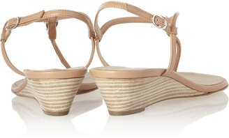 Giuseppe Zanotti Embellished leather wedge sandals