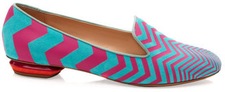 Nicholas Kirkwood Preorder Blue And Pink Zig Zag Slipper