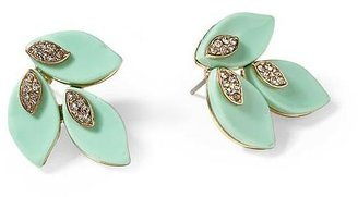 Pim + Larkin Mint Leaves Stud Earring