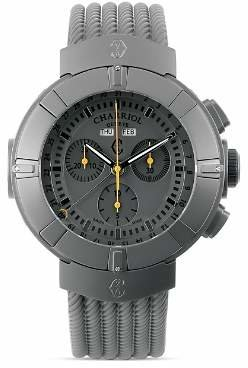 Charriol Celtica Chronograph Round Steel PVD Watch, 44mm