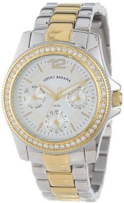 Tommy Bahama Swiss Women's TB4047 Riviera Silver Multi-Function Bracelet Watch $175 thestylecure.com