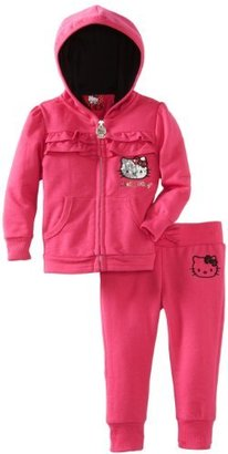 Hello Kitty Baby-girls Infant Sweatsuit Set with Ruching