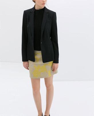 Zara Basic Single Button Blazer