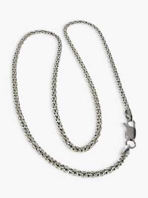 Nina B Silver Chunky Popcorn Chain Necklace