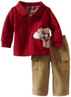 Mud Pie Baby-Boys Infant Fuzzy Bear P...