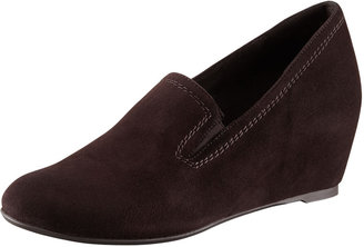 Stuart Weitzman Onhold Gored Slip-On Wedge Loafer
